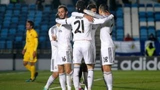 getlinkyoutube.com-Real Madrid Castilla vs Barcelona B • 3-1 • Mini Classico • 15 02 2014 • Two red card