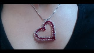 getlinkyoutube.com-DIY Crystal Heart Pendant (quick and easy) / Valentine's day project
