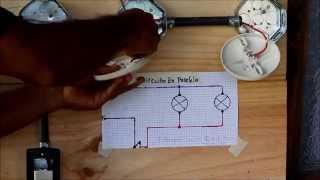 getlinkyoutube.com-Interruptor sencillo controla dos bombillos, circuito en paralelo