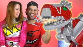 getlinkyoutube.com-Morph-N-Pop Dino Charge T-Rex Zord Version 1 Review! (Power Rangers Dino Super Charge!)