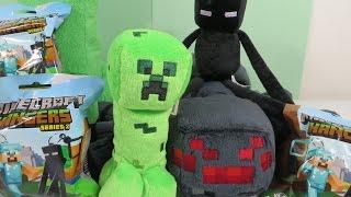 getlinkyoutube.com-Minecraft Series 2 Hangers Steve Horse Toy Opening Unboxing