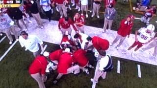 getlinkyoutube.com-Hardest College Football Hit Ever? 12/1/2012 Nebraska vs. Wisconsin
