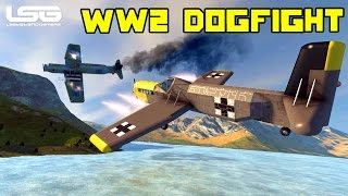 getlinkyoutube.com-Space Engineers - Aerodynamics WW2 Dog Fight