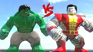 getlinkyoutube.com-HULK VS COLOSSUS -(LEGO MARVEL SUPER HEROES) - CRAZY BATTLE