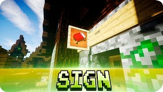 getlinkyoutube.com-Minecraft - Item Frame Wall Sign Tutorial (Decoration Ideas)