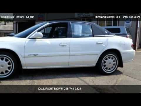 1998 Buick Century Custom Repair Manual