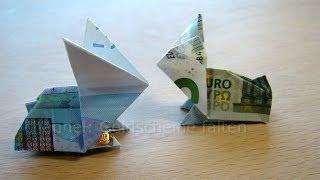 getlinkyoutube.com-Geldscheine falten Osterhasen - Geldgeschenke basteln - Geld falten Hase - Origami Tiere