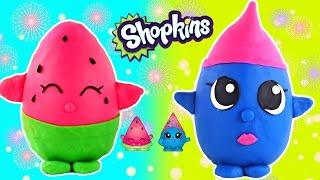 getlinkyoutube.com-HUGE SHOPKINS Play Doh Eggs Disney Wikkeez Lalaloopsy Peppa Pig LPS Surprise Blind Bag Toys DCTC