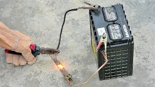How to Make Welding Machine Using 12 Volt battery (very easy) width=