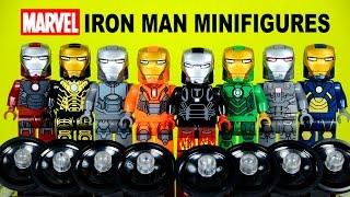 getlinkyoutube.com-LEGO Iron Man Suit of Armor KnockOff Minifigures Set 4 Marvel's Avengers