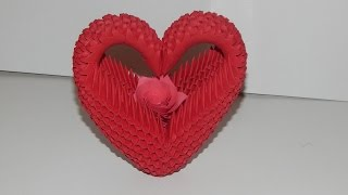 getlinkyoutube.com-How to make 3d origami Heart model2 part2