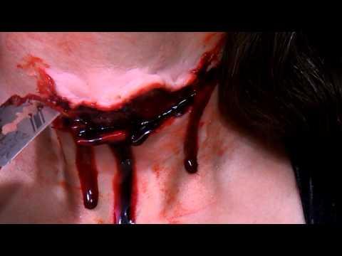 Maquiagem de efeitos especiais - Corte no pescoço