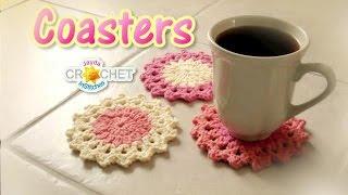 getlinkyoutube.com-Crochet Drink Coaster Pattern  - How to Crochet a Classic Round Motif