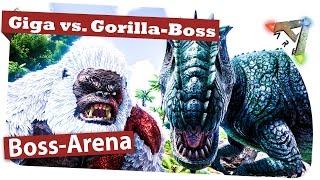 getlinkyoutube.com-Giganotosaurus vs. Megapithecus Boss Arena: Ark Survival Evolved Gameplay / German