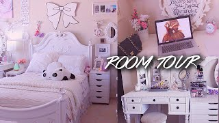 getlinkyoutube.com-ROOM TOUR | lilisimply All White Shabby Chic & Girly Bedroom