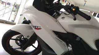 Suzuki gixxer sf 150 new model white color edition | At showroom | More On Description