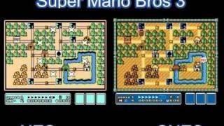 getlinkyoutube.com-Super Mario Bros 3 NES vs SNES