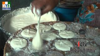 getlinkyoutube.com-IDLY INDIAN FAMOUS TIFFINS - Rajahmundry Street Foods - ANDHRA STREET FOOD