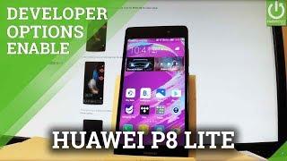 Developer Options in HUAWEI P8 Lite - Allow USB Debuging