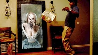 getlinkyoutube.com-Paranormal Activity Digital Portrait Zombie Halloween Prank