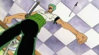 getlinkyoutube.com-One Piece Epicness - Zoro's Luck vs Sandai Kitetsu's Curse