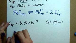 What is Ksp? (Solubility Product Constant)