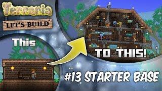 getlinkyoutube.com-Terraria Let's Build Part 13 | Starter Houses | Base Tutorial | Survive Your First Night