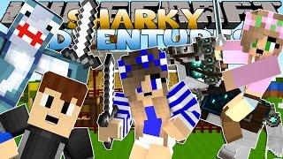 getlinkyoutube.com-Minecraft Adventure - Sharky and Scuba Steve - MEETING LITTLE CARLY w/Little Kelly