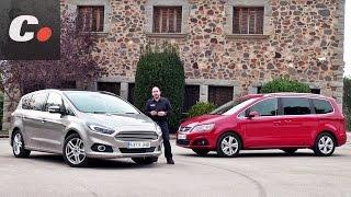 getlinkyoutube.com-Ford S-Max vs Seat Alhambra 2016 | Prueba Monovolumen 7 plazas (MPV) | Test / Review | coches.net