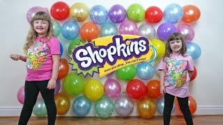 getlinkyoutube.com-Shopkins Season 4 BALLOON POPPING Challenge Show Fun Videos for Kids Balloon Game ToyCollectorDisney