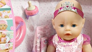 getlinkyoutube.com-Interactive Baby Born Princess Doll - Zapf Creation - 136698 - MD Toys