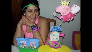 getlinkyoutube.com-Como Elaborar un Centro de Mesa de Peppa Pig - How to make Peppa Pig Stand