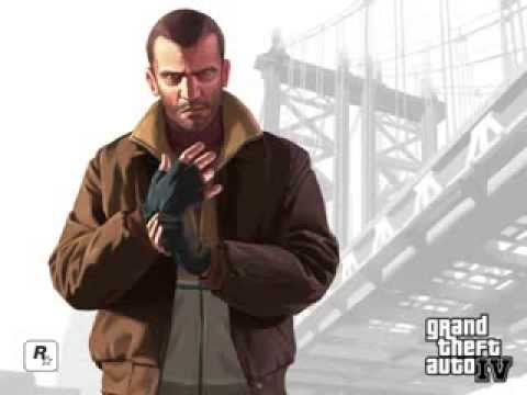 Grand Theft Auto 4 Theme Song -موسيقى gta iv  القديمه