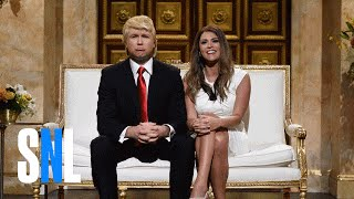 getlinkyoutube.com-Donald and Melania Trump Cold Open - SNL