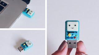 getlinkyoutube.com-DIY: BMO Polymer Clay Flash Drive Back To School Tutorial