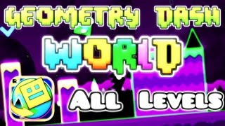 getlinkyoutube.com-Geometry Dash World - All Levels 100% (1-10) [HD]