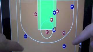 getlinkyoutube.com-Ataque de baloncesto contra zona 2-3 por sobrecarga