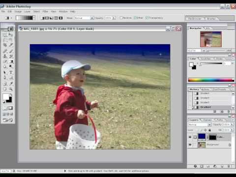 Photoshop Tip - How to fade image to solid color