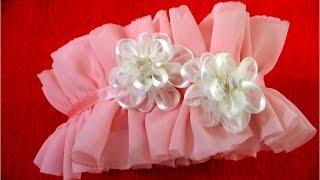 getlinkyoutube.com-Diademas en gasa con rosas en cintas de organza para el cabello
