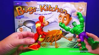 getlinkyoutube.com-HEXBUG BUGS IN THE KITCHEN Game Ironman and Incredible Hulk Plays Hexbugs Video Toys Unboxing