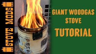 getlinkyoutube.com-GIANT WOODGAS STOVE TUTORIAL BY STOVE MODS