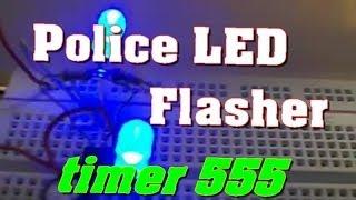 getlinkyoutube.com-تجربة رقم [02] دائرة اضواء بالتتابع باستخدام المتكاملة 555  جزء 2