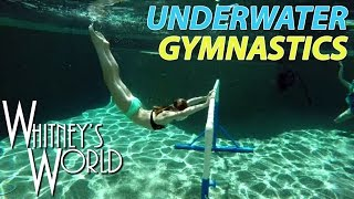 getlinkyoutube.com-Underwater Gymnastics | Whitney & Blakely Bjerken