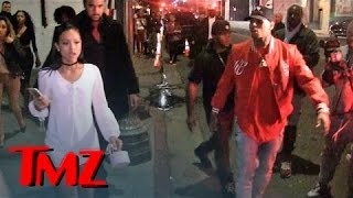 Chris Brown Follows Karrueche Out Of Club And Jumps In Her Car