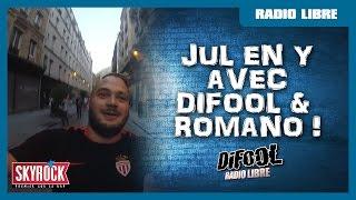 Jul essai de mettre son scooter en Y avec Difool & Romano dans La Radio Libre !