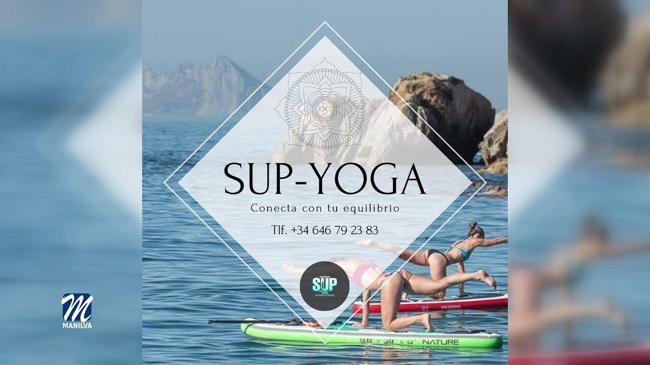 El Club Paddle Surf Manilva ofrece clases de yoga sobre la tabla