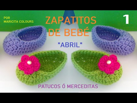 Crochet Tutorial Zapatitos Escarpines