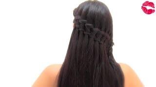 getlinkyoutube.com-Peinado con trenza de cascada doble