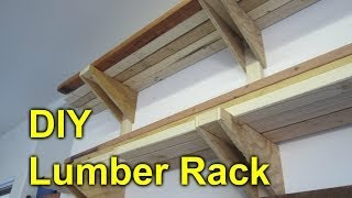 Garage Lumber Rack - Easy Cheap DIY Project