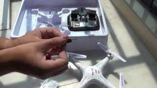 getlinkyoutube.com-Квадрокоптер SYMA X5C с камерой. Полеты над крышей DX. Моя китайская квартира